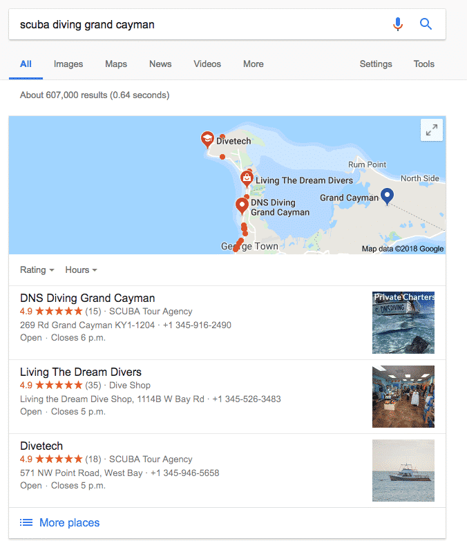 DNS Diving Maps SEO